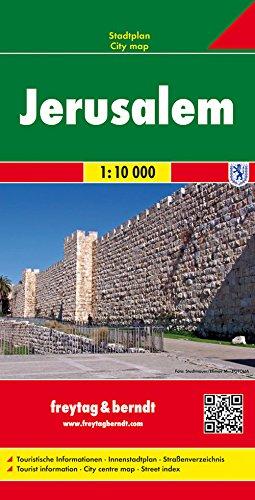 Jerusalem, Stadtplan 1:10.000, freytag & berndt Stadtpläne