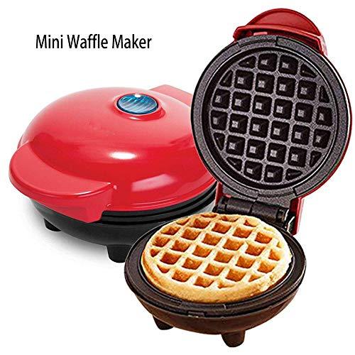 Cokeymove Mini máquina para Hacer gofres, gofrera Belga antidesbordamiento para gofres Individuales, paninis, Papas Fritas, panqueques, Huevos y Otros desayunos para Llevar