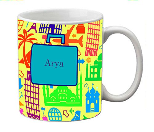 meSleep Abstract Personalized Ceramic Mug for Arya  available at amazon for Rs.249