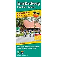 EmsRadweg, Hövelhof - Emden: Leporello Radtourenkarte mit Ausflugszielen, Einkehr- & Freizeittipps, wetterfest, reissfest, abwischbar, GPS-genau. 1:50000 (Leporello Radtourenkarte / LEP-RK)