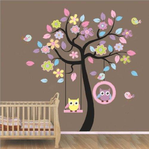 Guardería Arte Decorativo de pared para niños niñas bebé dormitorio extraíble, 1, 1 pack