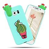 Cover Galaxy S6 (5.1 Pollici) Spiritsun Moda Ultraslim Soft TPU Cover Bello Kawaii 3D Diy Case Elegante Carina Souple Flessibile Morbido Silicone Copertura Perfetta Protezione Shell Paraurti Custodia Per Samsung Galaxy S6 Cover Copertura Copertina Phone Case - Cactus