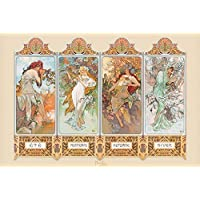 "Pyramid International ""4 Seasons Mucha Maxi Poster, Multi-Colour, 61 x 91.5 x 1.3 cm preiswert"