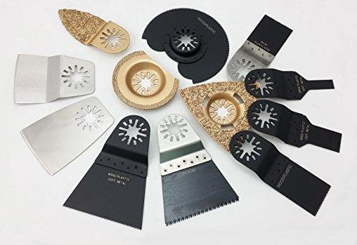 Preisvergleich Produktbild 12-tlg. Zubehör-Set mit Schleifschuh für Multimaster-System, LOSE, Sägeblätter, Schleifblätter
