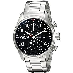 Alpina Startimer de los hombres de 'Swiss automático reloj Casual acero inoxidable, Color silver-toned (modelo: al-725b4s6b)