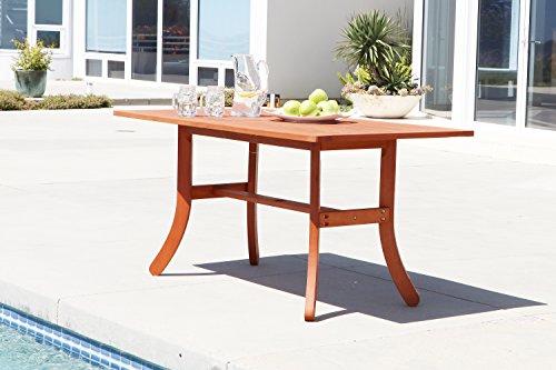 Vifah V189 Malibu Tavolino Eco-Friendly, in legno naturale