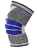 AIEOE Rodillera Deportiva de Compresión para Hombre Mujer con Anillo de Silicona Protecdor de Rodilla y Menisco Gris M