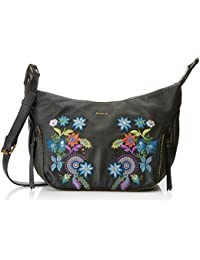 Desigual Bols_mavi Somalia, Women's Cross-Body Bag, Black (Negro), 10x22x31 cm (B x H T)