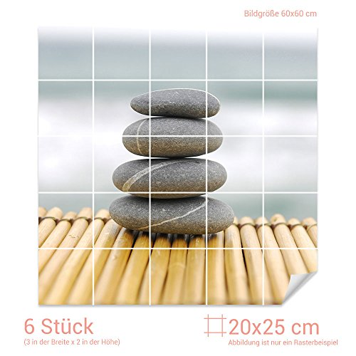 Graz Design Fliesenaufkleber Esoterische Steine Für Kacheln | Bad Fliesen  Mit Fliesenbildern überkleben (Fliesenmaß