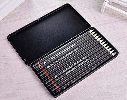 Kelaina Praktisch 12 Stück professionelle Kunst Zeichnung Bleistifte Skizze Bleistift
