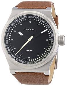 Diesel DZ1561 - Reloj analógico de cuarzo para hombre con correa de piel, color marrón de Diesel