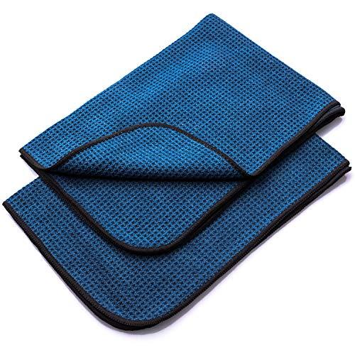 Aurum-Performance Flauschige Microfasert/ücher zur professionellen Autopflege Perfektes Microfasertuch als Trockentuch und Poliertuch mit extrem hoher Saugkraft und Aufnahmekapazit/ät 2er Set