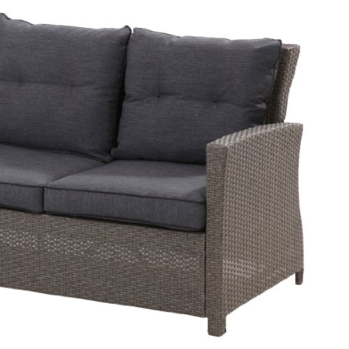 "Hohe Dining Poly Rattan Lounge ""Havanna"" inkl. Kissen - 4"
