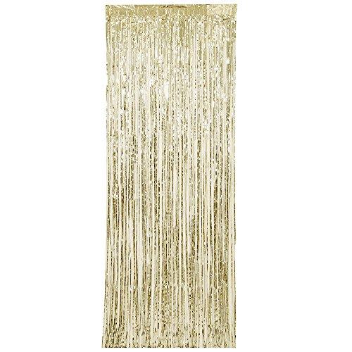 Unique Party 61927Foil Oro flecos cortina puerta