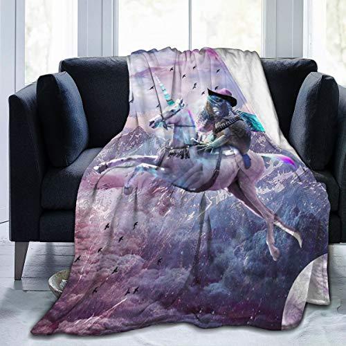 Body coperta in pile con drago, lucertola e unicorno, carina e morbida, per divano, letto, ufficio, viaggi, campeggio, bambini, adulti e bambini, nero, 50