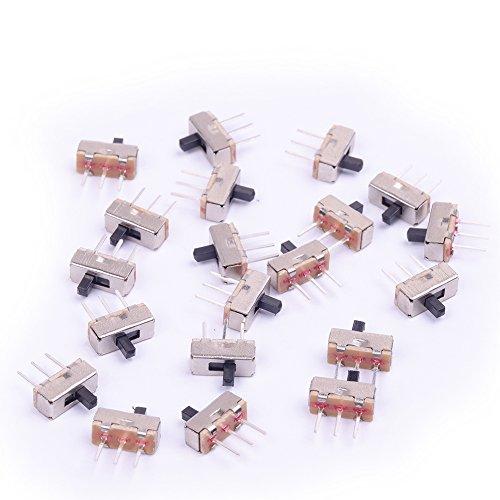 Cylewet SPDT 1P2T vertikaler Mini-Schiebeschalter mit 3Pins PCB-Panel und 2Positionen für Arduino (20Stück) CLW1024 -