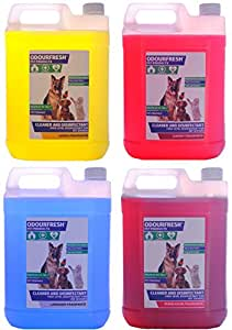 4x5L Odourfresh Pet Disinfectant / Kennel Deodoriser - Choose your own fragrances - 12 Available! Suitable for Dogs, Cats, Horses Rodents and More