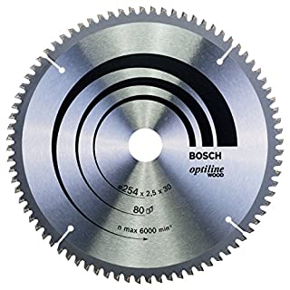 Bosch Professional Kreissägeblatt Optiline Wood zum Sägen in Holz für Kapp- und Gehrungssägen (Ø 254 mm)