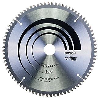 Bosch 2 608 640 437 – Hoja de sierra circular Optiline Wood (254 x 30 x 2,5 mm, 80)