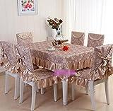 Set Tischdecke Stuhlabdeckung, Tischdecke Anzug, Continental,130*180CM