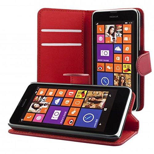 ECENCE Handyhülle Schutzhülle Case Cover kompatibel für Nokia Lumia 630/630 Dual SIM / 635 Handytasche 41020303 (Sim-karte Für Nokia Lumia 635)