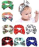 Qandsweet Baby Girls Elastic Headbands Hair Bows Flower (Bow L-4