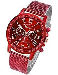 7dd5b289da90 Reloj Mujer Esfera De Acero Inoxidable Reloj De Cuarzo Lujo Reloj Pulsera  Casual Elegante Relojes Regalo