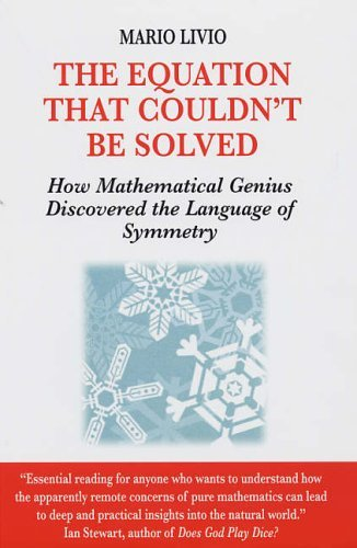 The Equation That Couldn't Be Solved: How Mathematical Genius Discovered the Language of Symmetry by Mario Livio (2006-03-16)