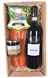 Exklusives Geschenkset von mypresentshop™ mit einem Barolo Rotwein, Pesto mit Trüffel und Pasta Linguine