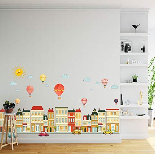 Pbldb Refrigerador Decorativo Pintura Dormitorio Sala De Estar Decoración De La Pared Tv Pegatinas De Pared Mural Casa Globo 50X70Cm
