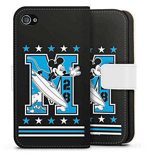 Apple iPhone X Silikon Hülle Case Schutzhülle Disney Mickey Mouse Merchandise Geschenke Sideflip Tasche weiß