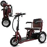LLPDD Mobility Scooter, tragbare Falten Elektro-Auto-dreirädrigen Old Man/Adult Behinderte/Outdoor Freizeit Mobil Scooter für Erwachsene und Old Man,Rot,20A -