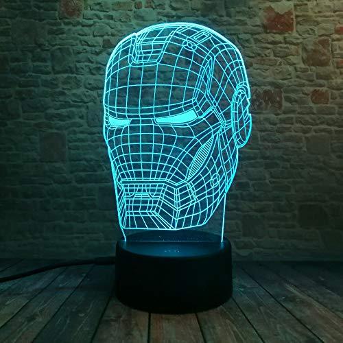 3D Kunst Mann Held Figur Nachtlicht 7 Farbe Stimmung Lampe Für Kinder Jungen Freunde Papa Weihnachten Spielzeug Geschenke -