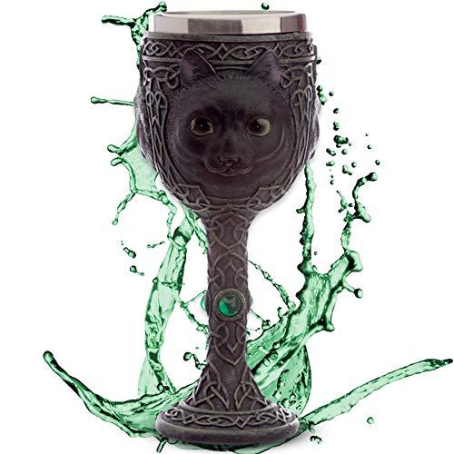 Este vaso decorativo de polirresina (resina artificial) de alta calidad con inserto de acero inoxidable es el centro de atención en cualquier fiesta de Halloween o simplemente un accesorio decorativo para la vitrina en el salón o habitación juvenil. ...