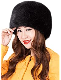 4c2672dd287ad Modelshow Invierno Mujeres Moda Estilo de Rusia Gorra Redondo Piel  Sintética Sombrero Gorro Para Esquí