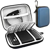 Lacdo(TM) Waterproof Hard EVA Shockproof Carrying Case Pouch Bag for Western Digital WD My Passport Studio Ultra Slim Essential WD Elements SE Portable 500GB 1TB 2TB For Mac USB 3.0 Portabl 2.5 inch External Hard Drive HDD with Auto Backup (Blue), [Importado de UK]