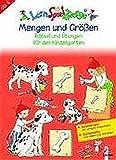 LernSpielZwerge Übungsheft: Mengen und Größen - Rätsel und Übungen für den Kindergarten