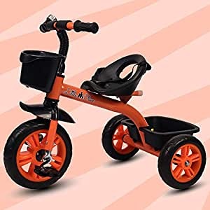 Little Olive Bugs Bunny Baby Tricycle Phthalates Esters Free, Harmful Chemicals Free / Kids Trike / Ride On with Parental Adjust Push Bar and Foot Rest | Suitable for Boys & Girls - (1 to 4 Years)