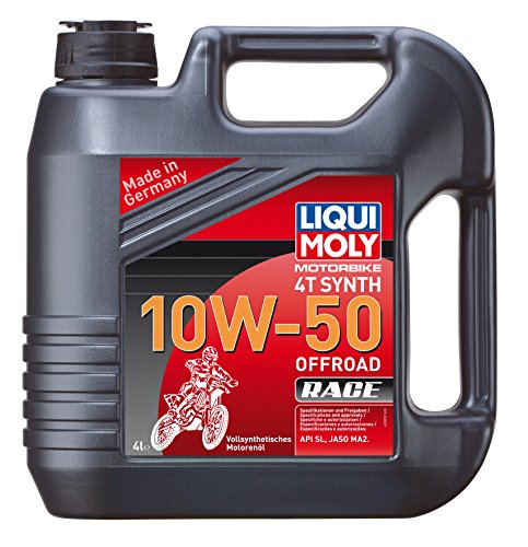 Liqui moly huile 4T 3052 motorbike synth 10W offroad 50–race pas cher