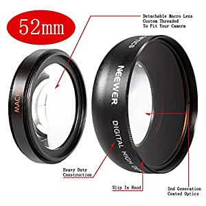 Neewer® 52MM 0.45X Wide Angle High Definition Lens with Macro for NIKON D5300 D5200 D5100 D5000 D3300 D3200 D3000 D7100 D7000 DSLR Cameras