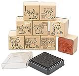 Betzold 70924 - Klassendienste-Stempel-Set Lehrer, Klassen einfach strukturieren Tafeldienst - Kinder Lehrer-Stempel Motivstempel Schule Klassendienst Geschenk Holzstempel Kinderstempel
