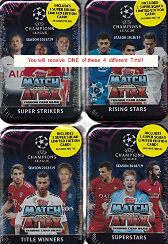 Match Attax Weihnachtskalender.Match Attax 2018 2019 Topps Uefa Champions League Card Game Mega Collectors Tin With 60 Cards Including A Limited Edition Super Squad Card And 15