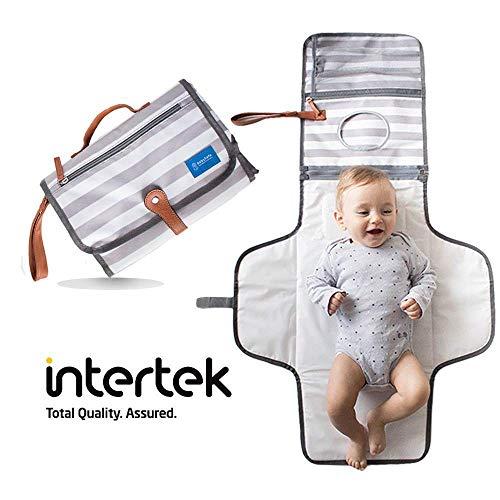 Fasciatoio portatile pieghevole - fasciatoio da viaggio - kit per cambio pannolini - idea regalo neonato regalo battesimo bimbo - cambia il tuo bambino ovunque - materassino totalmente imbottito