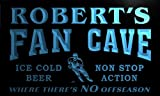 tg003-b Robert's Hockey Fan Cave Man Room Bar Beer Neon Light Sign