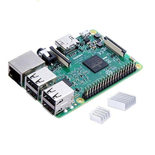 Raspberry Pi 3 Modelo B Starter Kit Desktop Quad Core 1.2 GHz 1GB RAM con Accesorios como Regalo (32GB Micro SD  Cable HDMI  Caja Negra y Cargador)