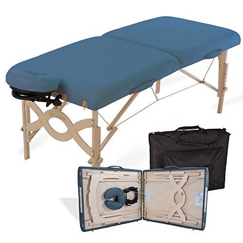EARTHLITE Avalon XD Mobile Massageliege - Klappbares Komplettpaket, ½ Reiki ½ Standard Endplatten inkl. Flex-Rest Kopfstütze & Tragetasche (Earthlite Massagetische)