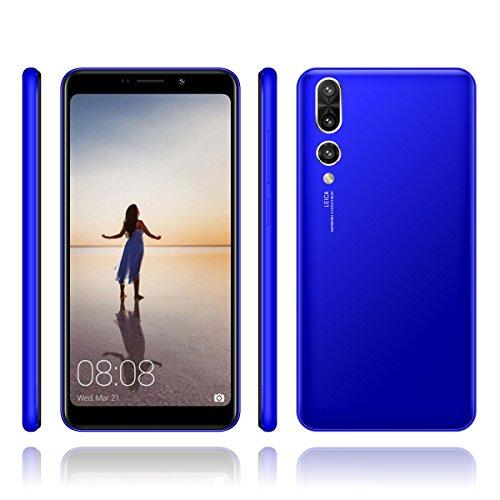 Hyrich SIM - Freien Smartphone Android Gehen 7,0 & 5.7inch MTK6580 1GB Ram + 4GB ROM Dual - SIM - Dual Kamera Webcam / 2mp Offen 3G - Handy (Blau)