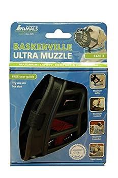 Baskerville Muselière pour Chien Ultra Noir Taille 3 (9,5 X 12 X 9 cms)