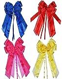 Unbekannt 1 Stück 3-D Schleife - pink / rosa - 17 cm breit u. 31 cm lang - Geschenkband / Geschenkschleife für Geschenke und Schultüten - Geschenkeschleife / Dekoschlei