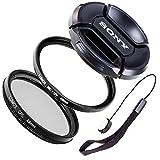 LUMOS CREATIVE 49mm MC UV CPL Filter Set uneingeschränkt kompatibel mit Sony Objektiven mit 49mm Filtergewinde / SEL55210 SEL35F18 SEL50F18 an Sony Alpha 6000 5000 NEX 6